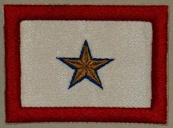 Gold Star Patch - Horizontal - 1 STAR