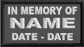 In Memory Of Name Patch - Polytwill