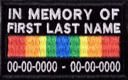 In Memory Of and KIA Service Ribbon patches are a good way