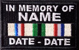 In Memory Of Desert Storm Campaign Ribbon Patch