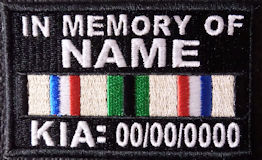 In Memory Of Desert Storm KIA Campaign Ribbon Patch