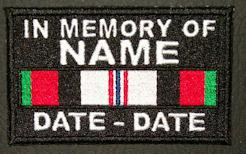 In Memory Of Afghanistan Patch