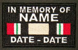 In Memory Of Iraq Patch