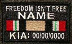 Freedom Isn't Free Iraq KIA Patch