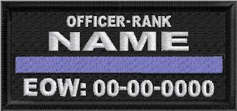 In Memory Of Thin Blue Line Patch