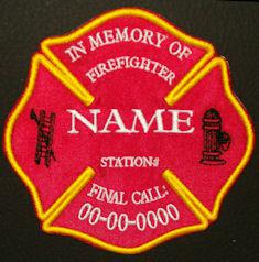 in memory of firefighter patch