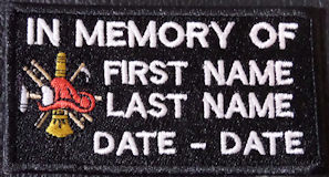 In Memory Of Fire Fighter with Logo