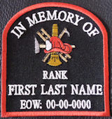 In Memory Of Fire Fighter Tombstone Patch PT