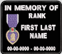 In Memory Of Purple Heart Patch