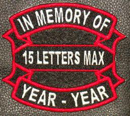 In Memory Of Ribbon and Bar Patch