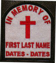 In Memory Of Tombstone Patch PT