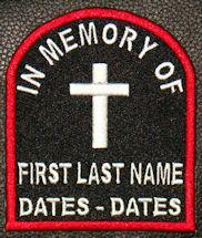 In Memory Of Tombstone Patch - Full Embroidered