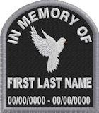 In Memory Of Tombstone Patch with Dove FE