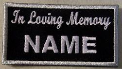In Loving Memory Patch - Name Only