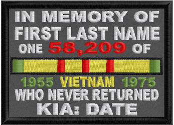 In Memory Of VIETNAM Who Never Returned
