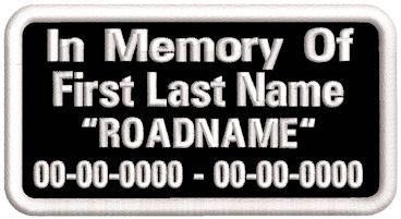 In Memory Of Name-Dates-Roadname - PT-SRDC