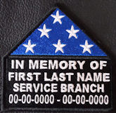 In Memory Of Folded Flag Patch2 with Service Branch option
