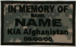 In Memory Of KIA Afghanistan Camouflage ACU