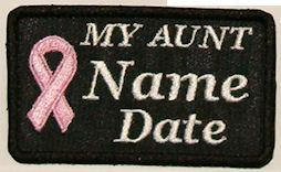 My Aunt Cancer Patch