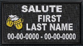 In Memory Of Salute Patch
