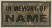 In Memory Of Camouflage Patch - ACU