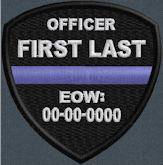 In Memory Of Thin Blue Line Shield patch
