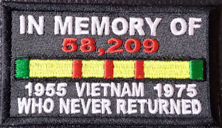 In Memory Of 58,209 VIETNAM Soldiers Who Never Returned