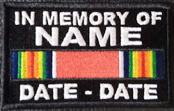 In Memory Of WWII Victory Ribbon Patch