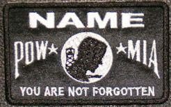 POW-MIA Name Patch
