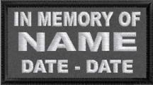 In Memory Of Name and Dates 2 Line  - Polytwill