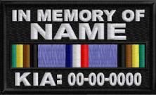 In Memory Of Patch ARMED FORCES EXPEDITIONARY RIBBON KIA
