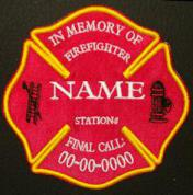 In Memory Of Fire Fighter Logo Patch