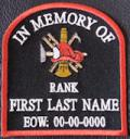 In Memory Of FireFighter Tombstone Patch