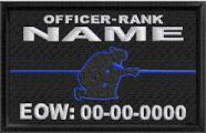 In Memory Of Fallen Officer Thin Blue Line Patch