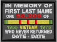 In Memory Of VIETNAM Who Never Returned Patch