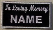 In Loving Memory Patch Full - Embroidered