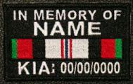 In Memory Of Afghanistan KIA Patch