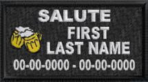 In Memory Of Salute patch with Dates