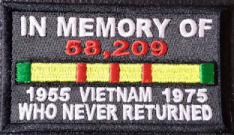In Memory Of, 58,209 VIETNAM Soldiers Who Never Returned