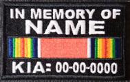 In Memory Of WWII Victory Ribbon KIA Patch