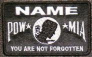 POW-MIA Name Patch