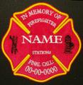 In Memory Of FireFighter Logo Patch