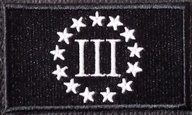 3 Pecnt Patch Black-White