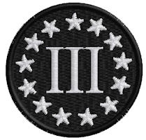 3in 3 Pecnt Patch Round Black-White