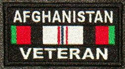 Afghanistan Veteran Service Ribbon Patch