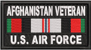 Afghanistan Veteran Service Ribbon US Air Force Patch