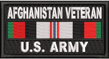 Afghanistan Veteran Service Ribbon Us Army Patch