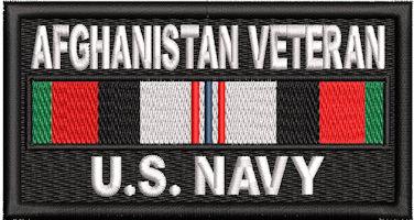 Afghanistan Veteran Service Ribbon US NAVY Patch
