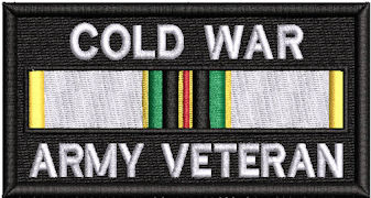 Cold War Army Veteran Service Ribbon Patch