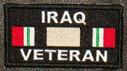 Iraq Veteran Service Ribbon Patch